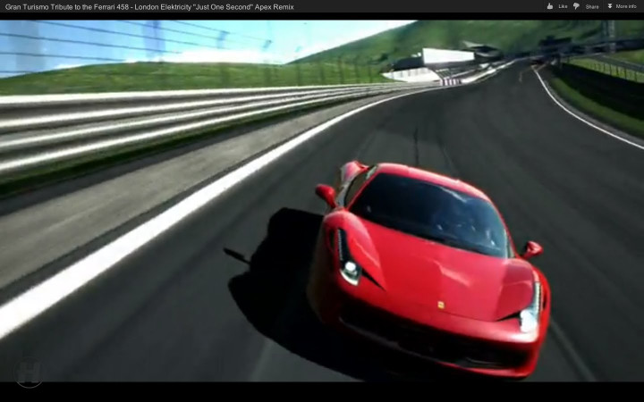 "Gran Turismo Tribute to the Ferrari 458 - London Elektricity ""Just One Second"" Apex Remix"